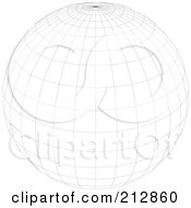 Royalty Free RF Clipart Illustration Of A Wire Frame Sphere With A Point At The Top
