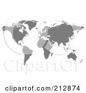 Royalty Free RF Clipart Illustration Of A Black World Atlas Formed Of Black Lines