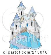 Royalty Free RF Clipart Illustration Of An Icy Castle by visekart