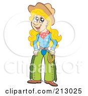 Happy Cowgirl Woman