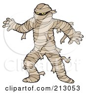 Royalty Free RF Clipart Illustration Of A Scary Mummy Walking