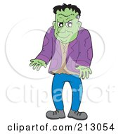 Royalty Free RF Clipart Illustration Of A Standing Frankenstein