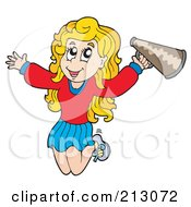 Jumping Blond Cheerleader