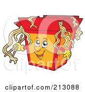 Royalty Free RF Clipart Illustration Of A Container Of Chinese Noodles