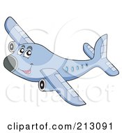 Royalty Free RF Clipart Illustration Of A Happy Airplane Character by visekart