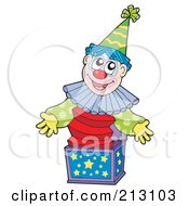 Royalty Free RF Clipart Illustration Of A Happy Jack In The Box Clown