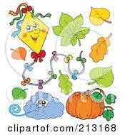 Digital Collage Of Autumn Items