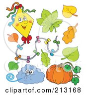 Royalty Free RF Clipart Illustration Of A Digital Collage Of Autumn Items
