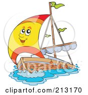 Royalty Free RF Clipart Illustration Of A Happy Yacht Character