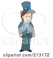 Royalty Free RF Clipart Illustration Of A Happy Groom by visekart