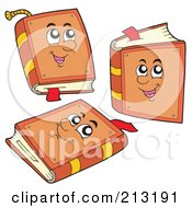 Royalty Free RF Clipart Illustration Of A Digital Collage Of A Brown Book