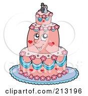 Happy Pink Wedding Cake