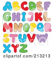 Royalty Free RF Clipart Illustration Of A Digital Collage Of Colorful Bubbly Letters