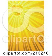 Sparkly And Shining Yellow Ray Background
