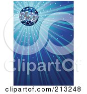 Sparkly And Shining Blue Ray Background