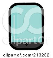 Royalty Free RF Clipart Illustration Of A Wide Screen Smart Phone