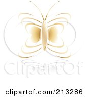 Golden Butterfly Icon