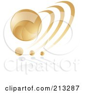 Abstract Golden Icon 1