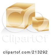 Royalty Free RF Clipart Illustration Of A Golden Bar Icon by Alexia Lougiaki