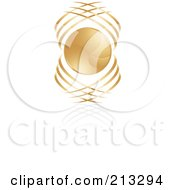 Abstract Golden Icon 2