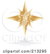 Royalty Free RF Clipart Illustration Of A Golden Star Icon