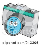 Royalty Free RF Clipart Illustration Of A Happy Camera Character
