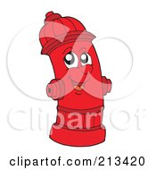 Royalty Free RF Clipart Illustration Of A Happy Fire Hydrant