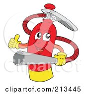 Royalty Free RF Clipart Illustration Of A Happy Fire Extinguisher