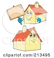 Royalty Free RF Clipart Illustration Of A Digital Collage Of Two Home Characters