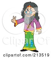 Peaceful Male Hippie