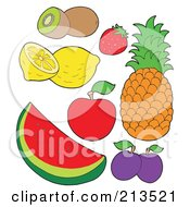 Digital Collage Of Fruit - 1