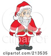 Royalty Free RF Clipart Illustration Of A Cartoon Santa Standing