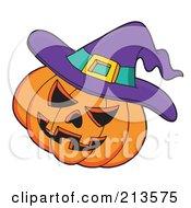 Purple Witch Hat On A Jackolantern by visekart