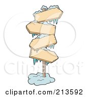 Royalty Free RF Clipart Illustration Of Icy Signs