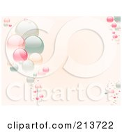 Royalty Free RF Clipart Illustration Of A Horizontal Background Of Pastel Bubbles On Pink by elaineitalia