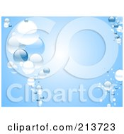 Royalty Free RF Clipart Illustration Of A Blue Water Background Of Bubbles