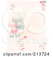 Royalty Free RF Clipart Illustration Of A Vertical Background Of Pastel Bubbles On Pink