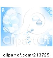 Royalty Free RF Clipart Illustration Of A Blue And White Water Background Of Bubbles