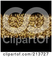 Black Background With A Line Of Golden Mosaic by elaineitalia
