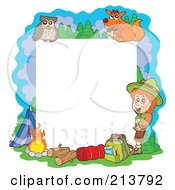 Royalty Free RF Clipart Illustration Of A Camping And Outdoor Frame