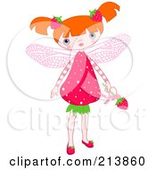 Royalty Free RF Clipart Illustration Of A Strawberry Fairy Girl