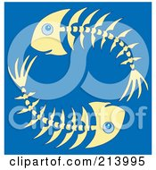 Royalty Free RF Clipart Illustration Of A Circle Of Fish Bones by visekart