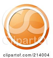 Royalty Free RF Clipart Illustration Of A Round Orange Icon by oboy