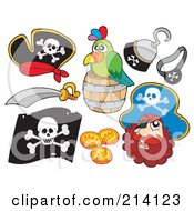 Digital Collage Of Pirate Items 11 by visekart