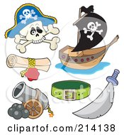Digital Collage Of Pirate Items 5 by visekart
