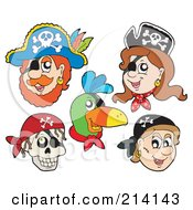 Royalty Free RF Clipart Illustration Of A Digital Collage Of Pirate Items 2 by visekart