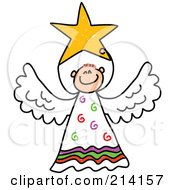 Royalty Free RF Clipart Illustration Of A Childs Sketch Of A Peaceful Angel 4