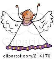 Royalty Free RF Clipart Illustration Of A Childs Sketch Of A Peaceful Angel 2