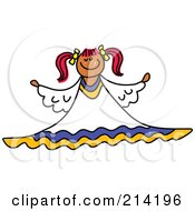 Royalty Free RF Clipart Illustration Of A Childs Sketch Of A Peaceful Angel 3