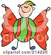 Royalty Free RF Clipart Illustration Of A Childs Sketch Of A Boy Candy